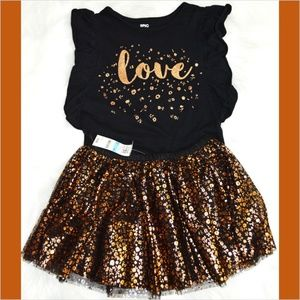 NWT Epic Threads Sparkly Top and Skirt Set